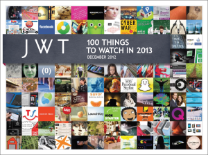 100 Things to Watch in 2013